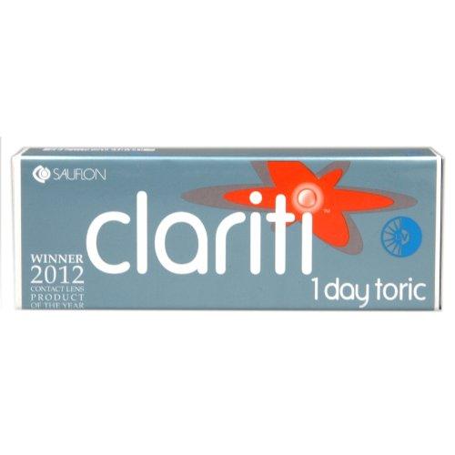 Clariti 1Day Toric Kontaktlinsen täglichen Ring, R 8.6, D 14.3, -2.5Dioptrie, Zylinder -1.75, Achse 10–30Astigmatism