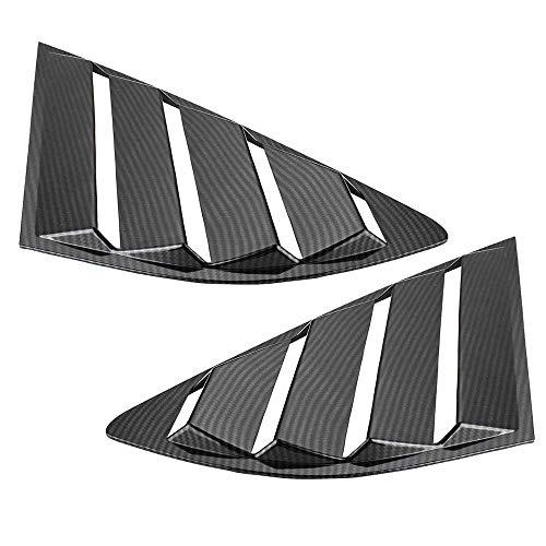 NIUASH Auto-Styling Seitenfenster Dreieck Jalousien Dekoration Verkleidung Verkleidung Verkleidung Verkleidung für Ford Fusion Mondeo 2013 2014 2015 2016 2017 2018
