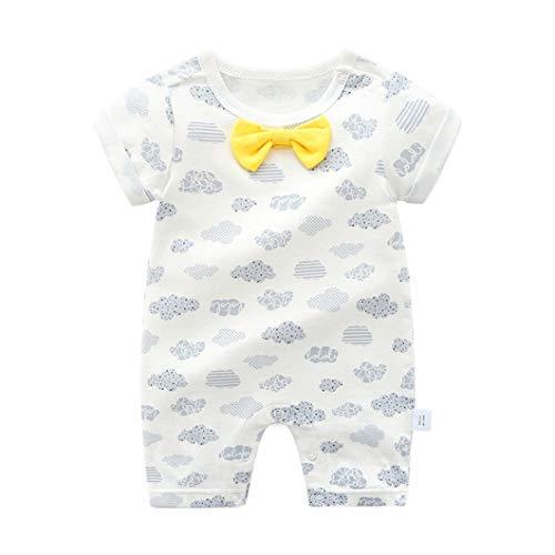 Mornyray Nouveau-né bébé garçons Tenue Formelle Une pièce de Gentleman Body Cravate Noeud Cravate (Color : White Clouds, Size : 59)