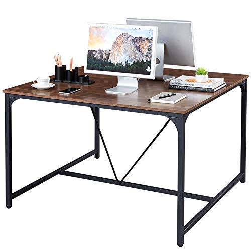 Superjare 47 x 47 Inches Computer Desk, Sturdy Home Office Desk for Laptop, Modern Simple Style Writing Table, Multipurpose Workstation