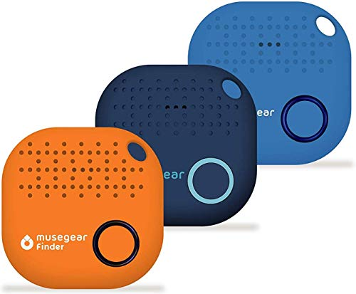 musegear Schlüsselfinder mit Bluetooth App aus Deutschland I Maximaler Datenschutz I 3er Pack bunt | dunkelblau, orange, hellblau
