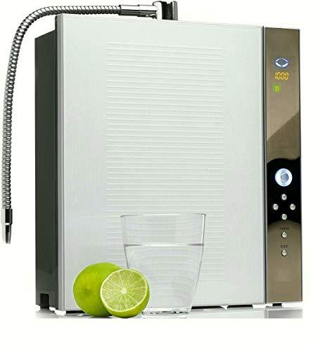 con-trade AIO Wasser-Ionisierer Wasseraufbereiter Auto-Reinigung natürlich gereinigtes basisches ionisiertes Trinkwasser 5.0-10.0 ph-Wert kompaktes schickes Design 30x36x13cm