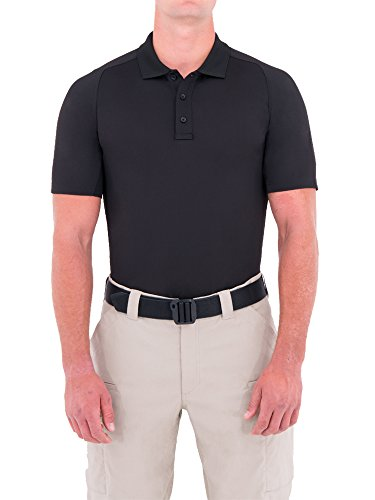 First Tactical Performance SS Polo pour Homme, Noir