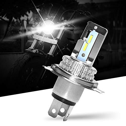 OPPULITE H4 LED Ampoule Phare Moto,HS1 HB2 P43t 9003 Ampoule Conversion Universel,6000LM 6500K 12V/24V Extrêmement Lumineux Blanc,IP67 Etanche 2 Ans de Garantie,1 Ampoule LED