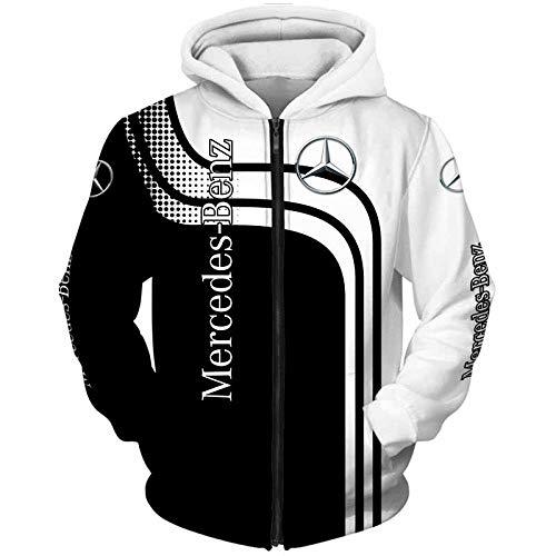 N/A-SHAOFA 3D Voll Drucken Postleitzahl Hoodies,T-Shirt,Jacke,Hose Kurz Zum Mercedes-Benz Beiläufig Leicht Sweatshirt Polyester/B/XXL