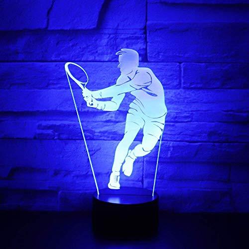 Nachtlicht, Eagle Kampf Badminton Volleyball Owl 7 Farbe Licht for Mädchen-Noten-Tabellenschreibtischlampe nette Geschenk-Hauptdekor-Eule (Color : Badminton)