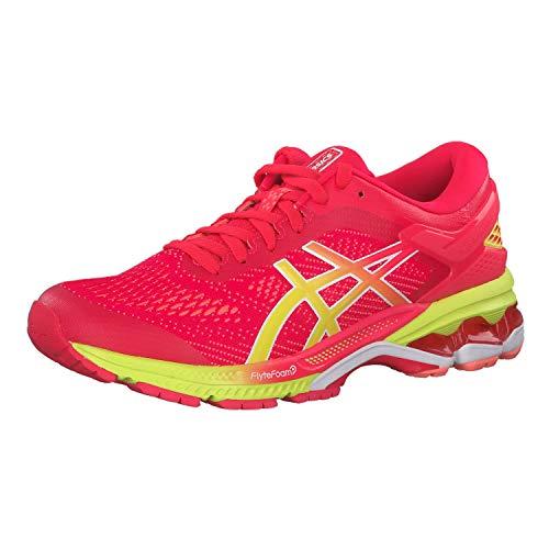 Asics Gel-Kayano 26, Zapatillas de Running Mujer, Rosa (Laser Pink/Sour Yuzu 700), 38.5 EU