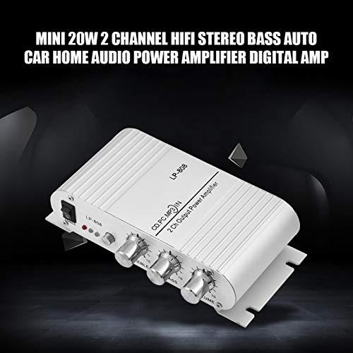 BOTEGRA Mini Amplificador estéreo, bajo estéreo de Alta fidelidad 20W del Mini Amplificador Digital Digital fácil de conectar