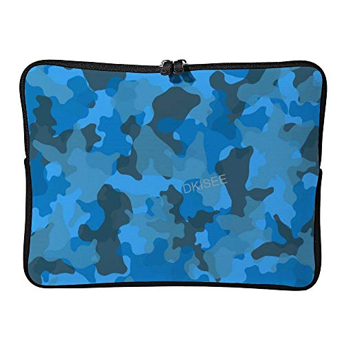 DKISEE Camouflage Military Pattern (20) Laptop Sleeve for Women Men, Compatible with 12 Inch MacBook Air/MacBook Pro Notebook Two-way Zippers Laptop Carrying Bag Case Cover