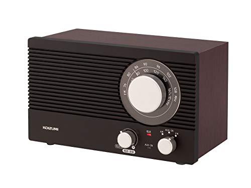 コイズミ ホームラジオ AM/FM ワイドFM対応 大型ダイヤル 木目 SAD-7223/M