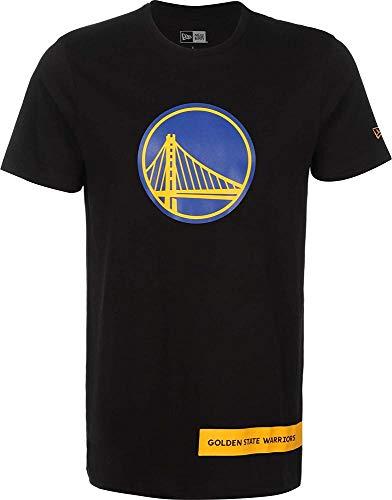 New Era NBA Block Wordmark tee Golwar Camiseta de Manga Corta, Hombre, Black, XS
