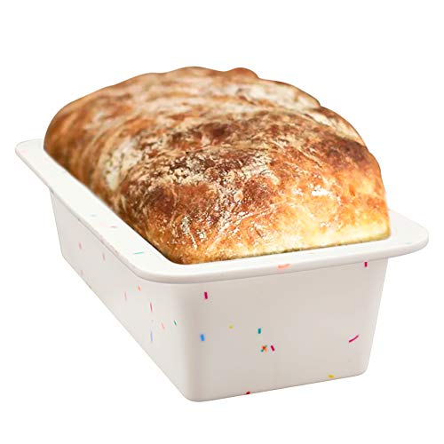 Shebaking Bread Loaf Pan Silicone Baking Pan for Homemade Bread, Cake and Loaf Mould, Nonstick Bakeware BPA free, Dishwasher Safe