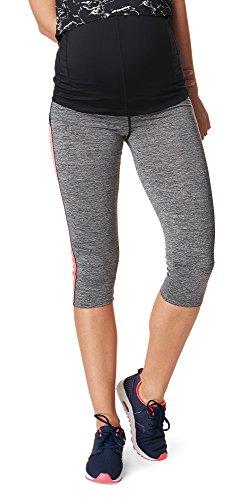 Noppies Umstandsmode Damen Sport-Legging Umstands-Sportleggings Activewear (Grey Melange, M-L)