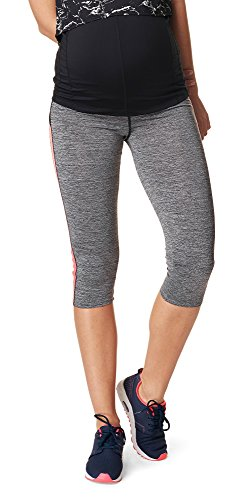 Noppies Umstandsmode Damen Sport-Legging Umstands-Sportleggings Activewear (Grey Melange, M-L)