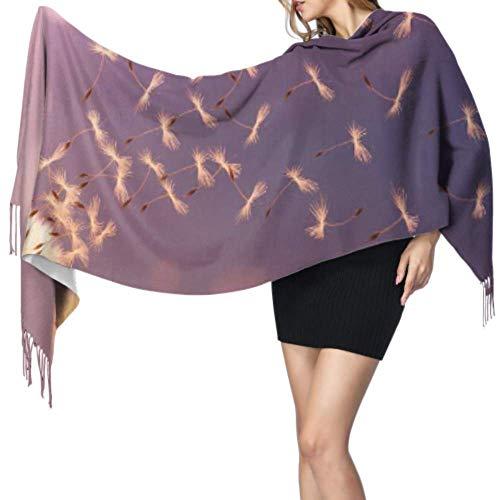 Kleurrijke Dandelion Bloem Zaad Zonlicht Wikkel Sjaal Voor Vrouwen Lange Sjaal Lichtgewicht Sjaal 77