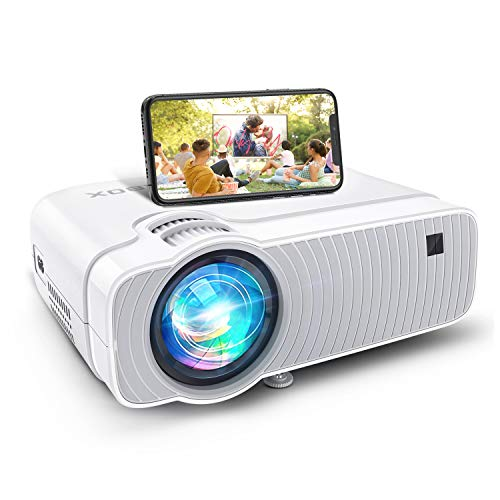 Projector for Outdoor Movies, Bomaker WiFi Mini Ultra Portable TV Projector, Wireless Mirroring, 5500Lux, 1080P Supported, Compatible with TV Stick, PS4, DVD Players, iPhone, Android, Windows