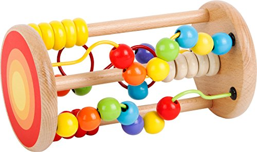 Jouet d'éveil - jeu motricité son de boules en bois - 1er âge bébé fille garçon
