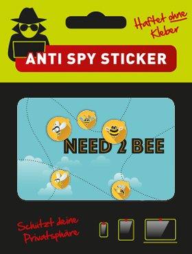Camblock - Webcam Cover, OHNE Klebstoff, 5er Set Typ Need 2 Bee, Webcam Abdeckung, Webcam Sticker