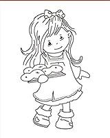 DIYスクラップブッキングフォトアルバム用の10x6かわいい女の子透明クリアシリコンスタンプシール装飾クリアスタンプ