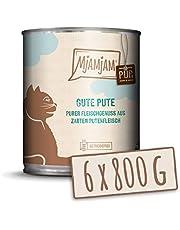 MjAMjAM Mangime Umido per Gatti, Puro Tacchino Buono, senza Cereali - Pacco da 6 x 800 g