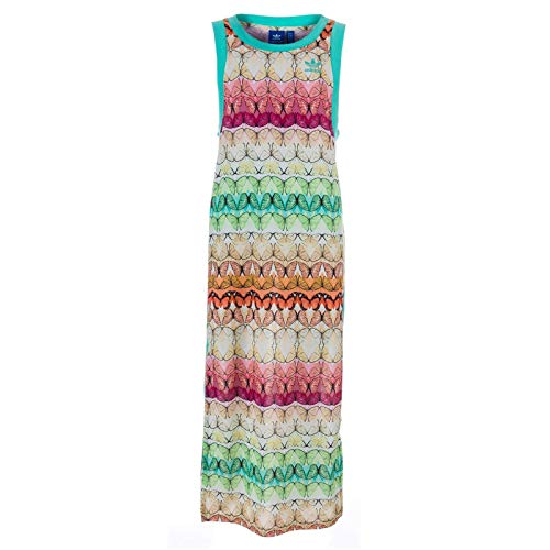 adidas Damen B Tank Dress Kleid, Multifarbe/Multco, 34