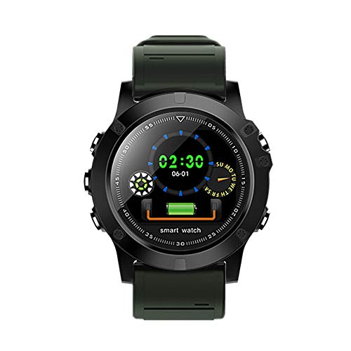 JKYQ Schrittzähler Smart Armband Blutdruck Herzfrequenz Schlaf Überwachung Fitness Tracker 1,3 Zoll Großbild Weiblich Männlich Erwachsener Kieferknochen,Green