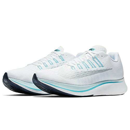 Nike WMNS Zoom Fly 897821-104 White/Blue/Silver Women's Running Shoes (6.5)