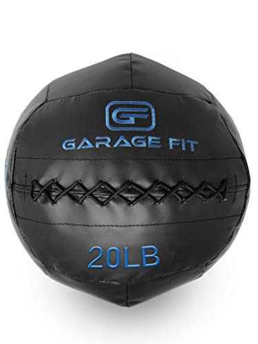 Garage Fit Soft Medicine Ball/Wall Ball/Wallball Plyometrics, Core Training, Cardio Workouts - Ideal for Wall Balls Squats, Lunges, Partner Toss,...