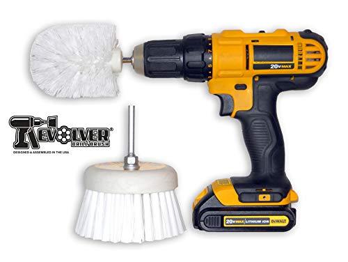 Revolver - Cepillo de taladro para fregar con fuerza - Herramienta de limpieza multiusos