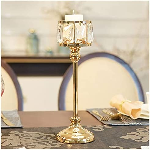 WAOUY Crystal Cheap mail order specialty store Candle Free Shipping Cheap Bargain Gift Holder Bling Gold,Crystal Holders