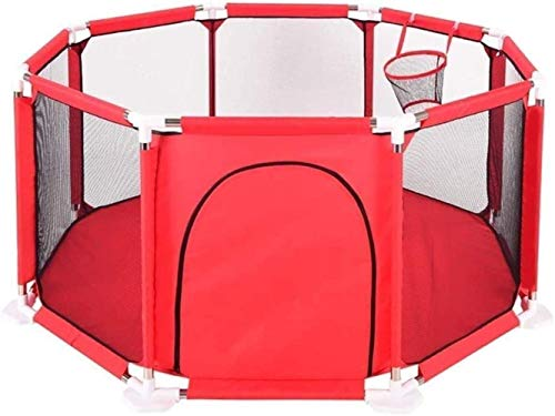 Clôture Toddler Baby Indoor Safety Crawling Mat Fence Game Baby Home Fence Protective Fence Safety (Color: Red)