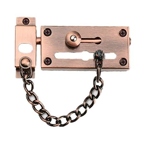 Pestillos de cerrojo para puerta corredera, cerraduras de cadena de acero inoxidable, herramientas de seguridad, escaparate, hotel, hardware para el hogar,Red Bronze