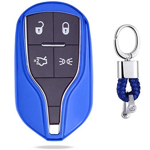 Bleu Auto clés Sac Housse de Protection pour Maserati Levante. Quattroporte. Ghibli GT GC
