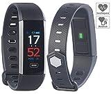 newgen medicals Pulsuhr ohne Brustgurt: Fitness-Armband mit Farbdisplay, Blutdruck-Anzeige, Bluetooth, IP67 (Uhr mit Blutdruckmessung)