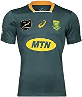 2021 South Africa Rugby T-Shirt,Men's Training Jersey Short Sleeve Tops South Africa Springbok Jersey (Color : Green, Size : Small) by LQWW