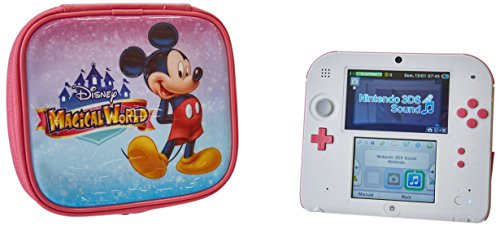Nintendo 2DS - Peach Pink with Disney Magical World Carrying Case