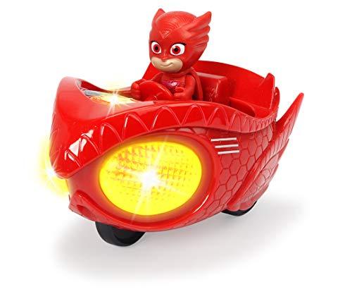 Dickie- PJ Mask Vehículo de juguete con personaje, Color rojo (3142002)