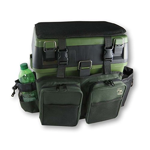 Behr Trendex Superbox, gepolsterte Sitzkiepe mit Tragegurtsystem und aufgesetzen Taschen, Gewicht 2,3kg, Maße 39x26x22cm