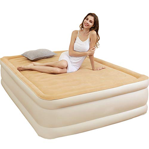 Fantastic Deal! LXDTOOL Double Size Inflatable Queen Airbed, Quick Inflation Indoor Air Mattress