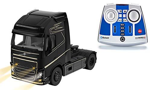 Siku 6737, Volvo FH16 LKW, Inkl. Fernsteuermodul, 1:32, Metall/Kunststoff, Schwarz, Ferngesteuert, Steuerung mit App via Bluetooth möglich