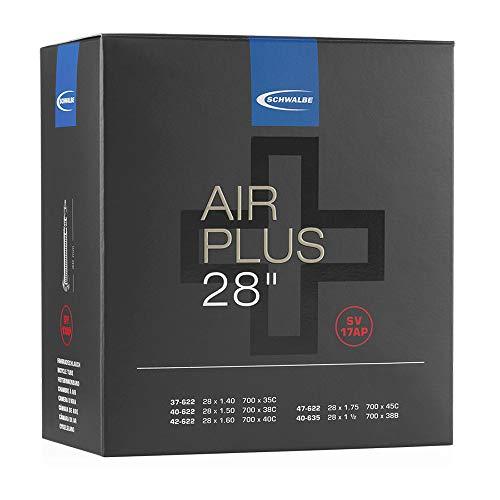 Schwalbe Unisex– Erwachsene Schlauch SV 17AP Air Plus, Schwarz, 28 Zoll