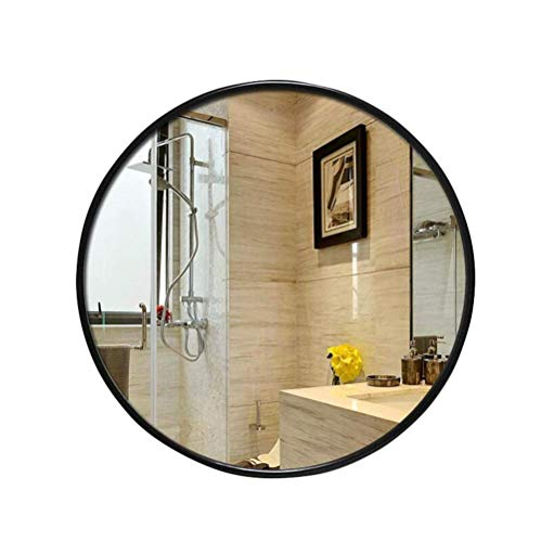 ZHTY Espejo de baño Redondo montado en la Pared - Espejos de tocador Grandes con Marco de Madera Espejo de Afeitar Ducha Espejo de Maquillaje-Dormitorio Salón Pasillo
