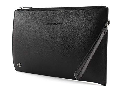 Pochette uomo grande porta iPad® Black Square Nero