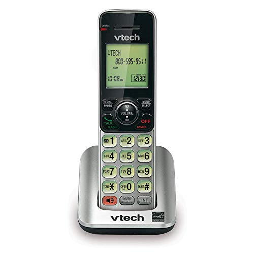 VTech CS6609 Cordless Accessory Handset - Requires a compatible phone system purchased separately (VTech CS6619, CS6629, CS6648, or CS6649),Silver/black