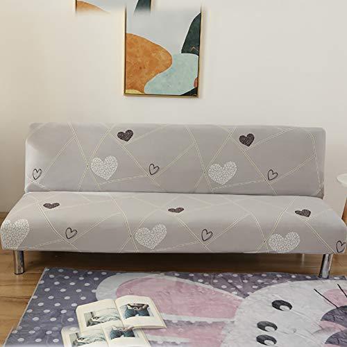 CJMING 160-190 cm Funda de sofá Cama elástica, Clic-clac para la Cubierta Completa de sofás sin reposabrazos, Cubierta Protectora para sofá Todo Incluido para Oficina en casa del Hotel