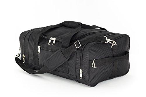 Northstar Bags Flight Dual Carry 1050 Tuff Cloth Carry-On Luggage Bag, Black, 21' x 14' x 9'