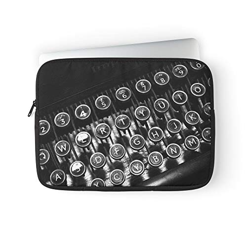 Author Type Writing Keyboard Typewriter Keys Writer Vintage QWERTY Laptop Sleeve Case Cover Handbag for MacBook Pro/MacBook Air/Asus/Dell/Lenovo/Hp/Samsung/Sony.Etc