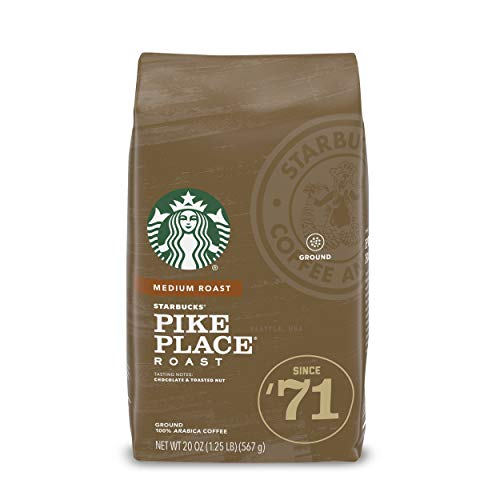 Starbucks Medium Roast Ground Coffee — Pike Place Roast — 100% Arabica — 1 bag (20 oz.)