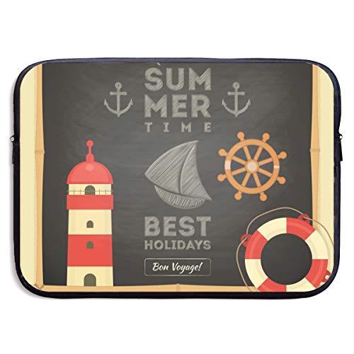 KUUDJIT Summer Best Holiday 13/15 Inch Laptop Sleeve Bag for MacBook Air 13 15 Pro 13.3 15.4 Portable Zipper Laptop Bag Tablet Bag,Diving Fabric,Waterproof Black