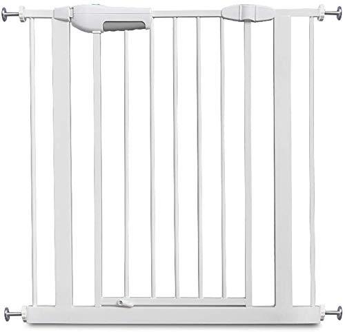 Gwendolyn Vallas Presión Fit Seguridad Puerta de Metal Soportes de 76cm de Altura El Ancho se Puede Seleccionar de 60 a 190 cm Puerta for Mascotas Puerta del bebé con Posibilidad de ampliación